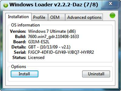 windows loader 2.2.2 (activer windows 7) gratuit