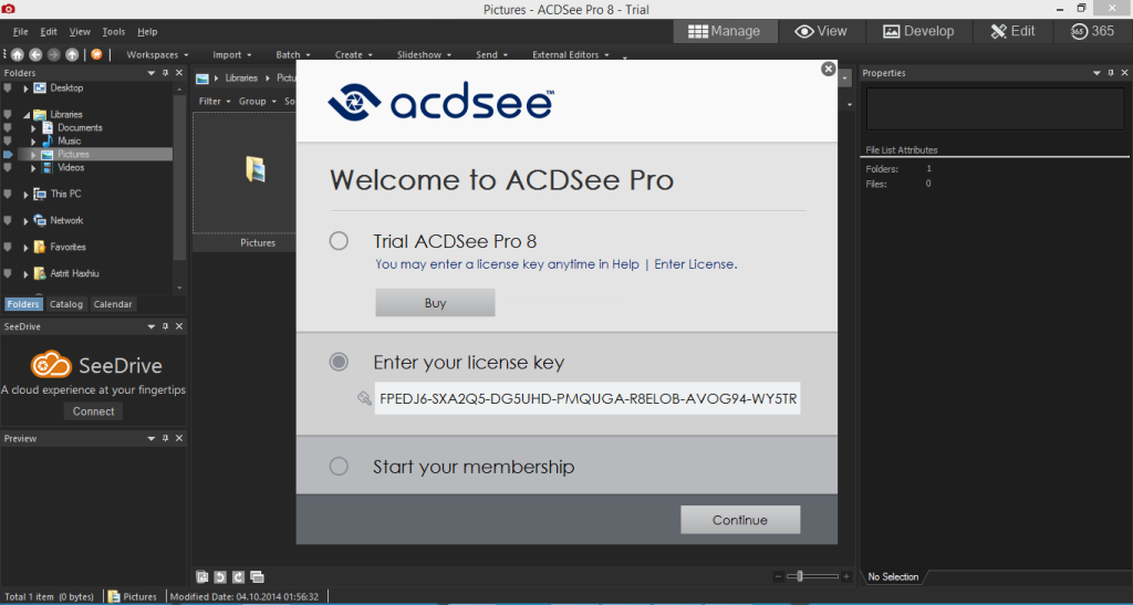 ACDSee Pro 8 Cracked Serial Keys Free Download