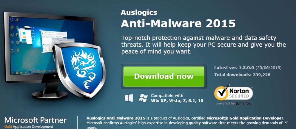 Auslogics Anti-Malware 2015 with Serial Keys Free Download