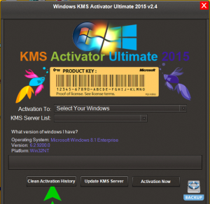 KMS Activator Ultimate 2015 for Windows 10, 8.1, 8, 7 Activation